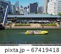 水都大阪 キャナルテラス 堀江前の道頓堀川を行く観光船 67419418