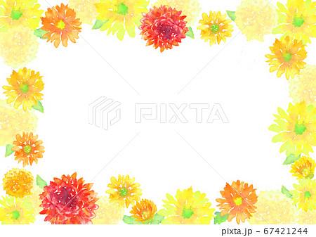 水彩で描いた花の背景 67421244
