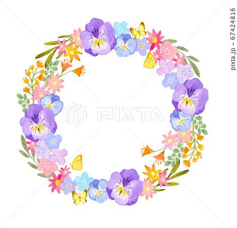 春の花のリース 67424816