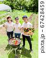 家庭菜園で獲れた新鮮野菜でBBQ 67428459