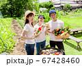 家庭菜園で獲れた新鮮野菜でBBQ 67428460