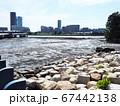 福岡市東区の「あいたか橋」付近から撮った人工島のビル街 67442138