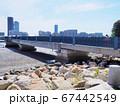 福岡市東区のあいたか橋とアイランドシティのビルの風景 67442549