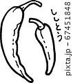 ししとうの線画イラスト 67451848
