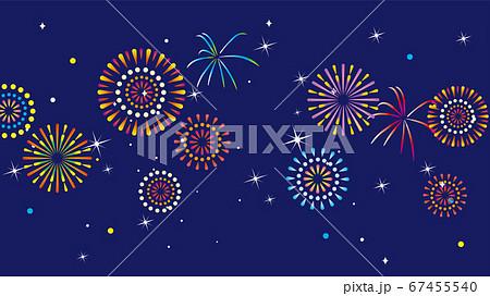 夏の花火の背景イラスト 67455540
