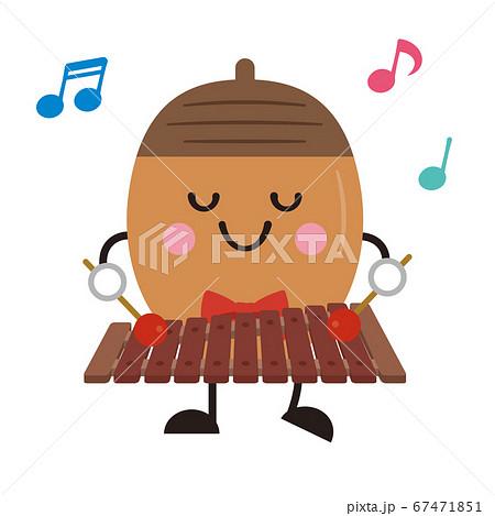 木琴 どんぐり ドングリ 音楽 発表会 演奏会 音楽会 楽器 イラスト 67471851