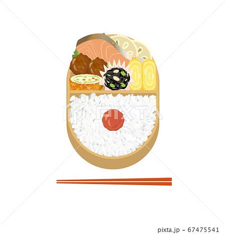 鮭と梅干のお弁当 67475541