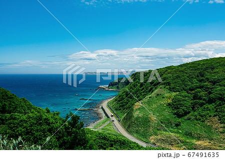 神威岬へ向かう高台からの景色(北海道 積丹町) 67491635