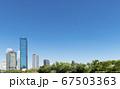 大阪 京橋ビジネスパークの高層ビル群 67503363