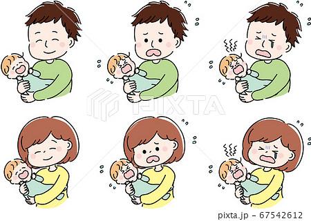 赤ちゃんとママとパパ セット 67542612