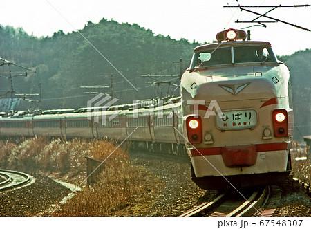 鉄道 国鉄:特急「ひばり9号」481系 67548307