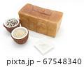 1ローフの食パンを囲む玄米と雑穀米とそば粉 67548340