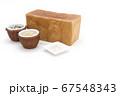 1ローフの食パンを囲む玄米と雑穀米とそば粉 67548343