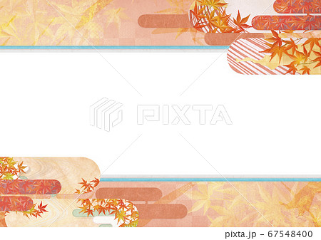 和紙の風合いを感じる背景イラスト-秋、紅葉の季節感【XL-A3 350dpi】 67548400