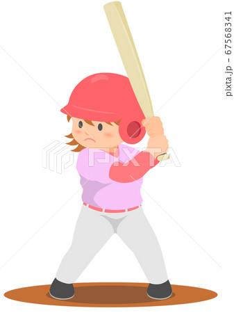 野球 バッター 女子 67568341