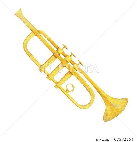 トランペット 楽器 オーケストラ 水彩 イラスト 67572254