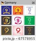 German set of number 9 templates 67578955