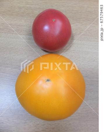 オレンジ色のトマト 桃太郎ゴールド 67579463