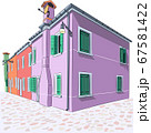 Colorful houses on the Burano island. 67581422