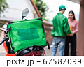 deliver motorbike with isothermal food box 67582099