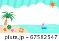 夏の海辺背景イラスト素材 67582547
