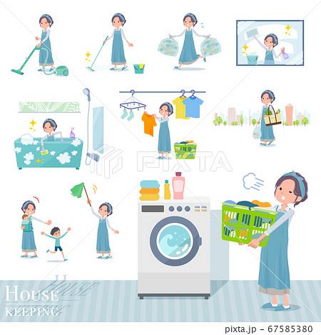 flat type hairband apron mom_housekeeping 67585380