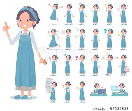flat type hairband apron mom_emotion 67585383