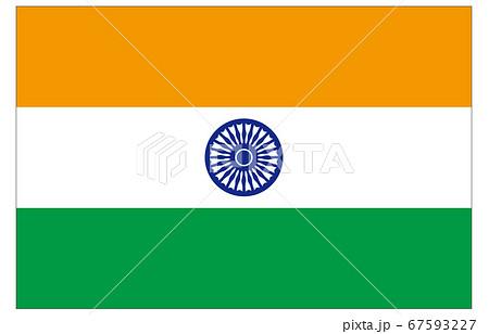 新世界の国旗2:3Verインド 67593227
