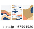 Abstract art background with Japanese wave pattern 67594580