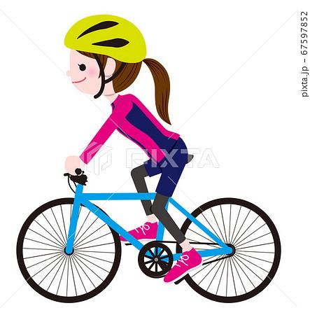 サイクリングする女性 67597852