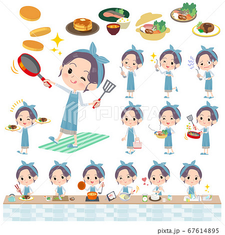 hairband apron mom_cooking 67614895