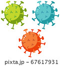 Set of different coronavirus in many colors 67617931
