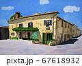 イタリア中部の小さな町モンテリッジョーニ ローマ広場の風景 67618932