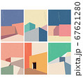 Abstract architecture background with geometric 67621280