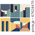 Abstract architecture background with geometric 67628470