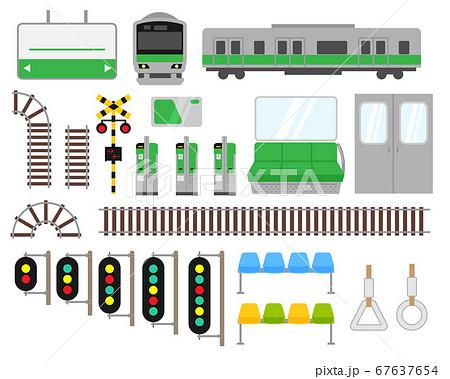 電車関連イラストセット素材 67637654