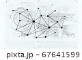 Lines and dots as networking idea drawn on white background 67641599