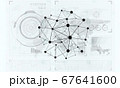 Lines and dots as networking idea drawn on white background 67641600