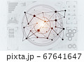 Lines and dots as networking idea drawn on white background 67641647