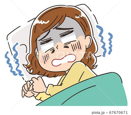 睡眠 布団で眠る女性 67670671