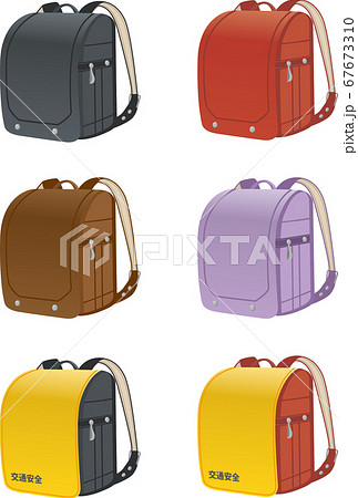 革製ランドセルのイメージイラスト/カラーバリエーション 67673310