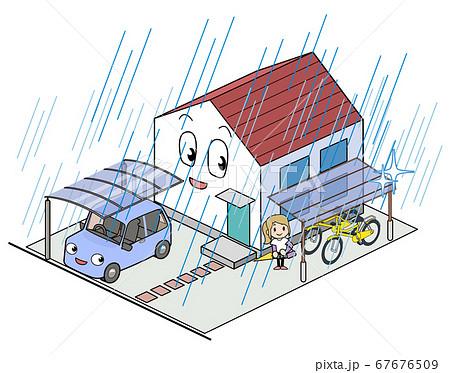 自転車の雨避け対策 67676509