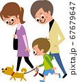 家族で散歩 67679647