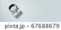 Virtual reality headset on white background 67688679