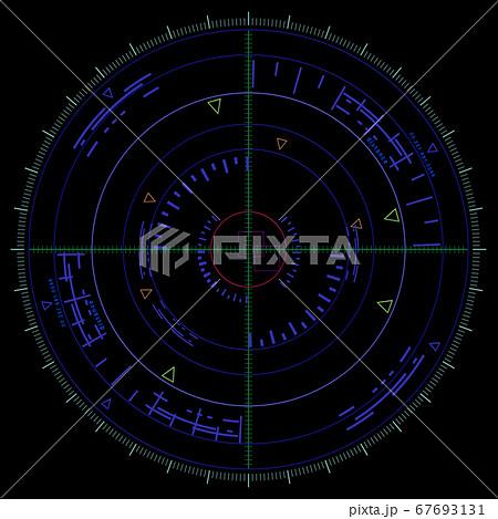 レーダー画面 ターゲット 67693131