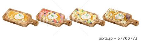 フワフワパンケーキ4種イラストセット 67700773