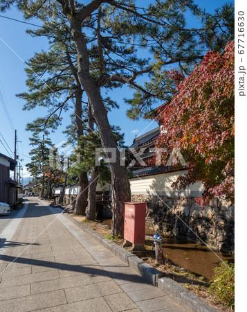 天空の城竹田城のある竹田の城下町の街並み 67716630