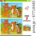 differences educational game with wild animals 67718480