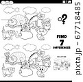 differences task with cats coloring book page 67718485