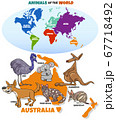 educational illustration with cartoon Australian 67718492